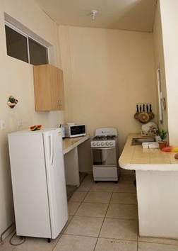Cocina completamente equipada en los apartamentos