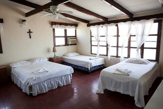 Amplias y confortables habitaciones en la casa de playa